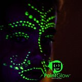 GLOW IN THE DARK Face & Body Paint invisible 10x13ml_