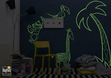 Glow in the dark wall and material paint_
