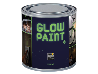 Glow in the dark wall and material paint